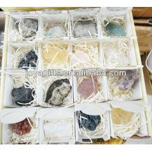 Coleção de pedras naturais ásperas, coleção natural de pedras brutas