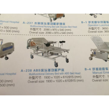 Multifunctional Delivery Bed with ABS Head