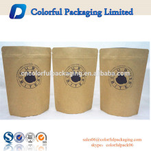 Stand up pouch resealable dog food packaging paper bag