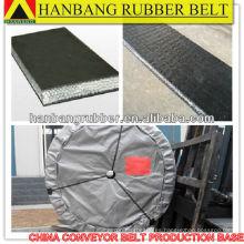 Cinta transportadora cinturón sólido tejido PVG680S para subterráneo mina de carbón
