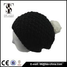 Alta calidad del sombrero hecho a mano de la historieta del ganchillo