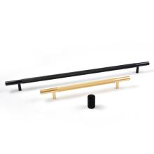 "HJY Black Knurled 5-1/16"" (128mm) kitchen cabinet handle"