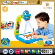 Projetor educativo dos desenhos animados do brinquedo da arte do miúdo