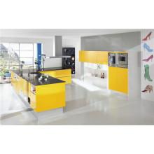 Gabinete de cocina de alta calidad de alto brillo MDF