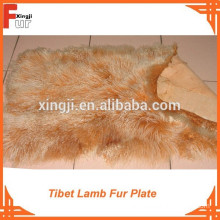 Two Tone Color Tibet Lamb Fur Plate