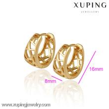 (29788) Xuping joyería moda 18 K oro plateado pendiente de oro para mujer