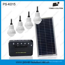 Sistema de iluminação home solar que ilumina 4 salas 6 horas com a bateria de lítio 5200mAh