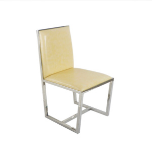 modern leather dining chair stainless steel legs frame