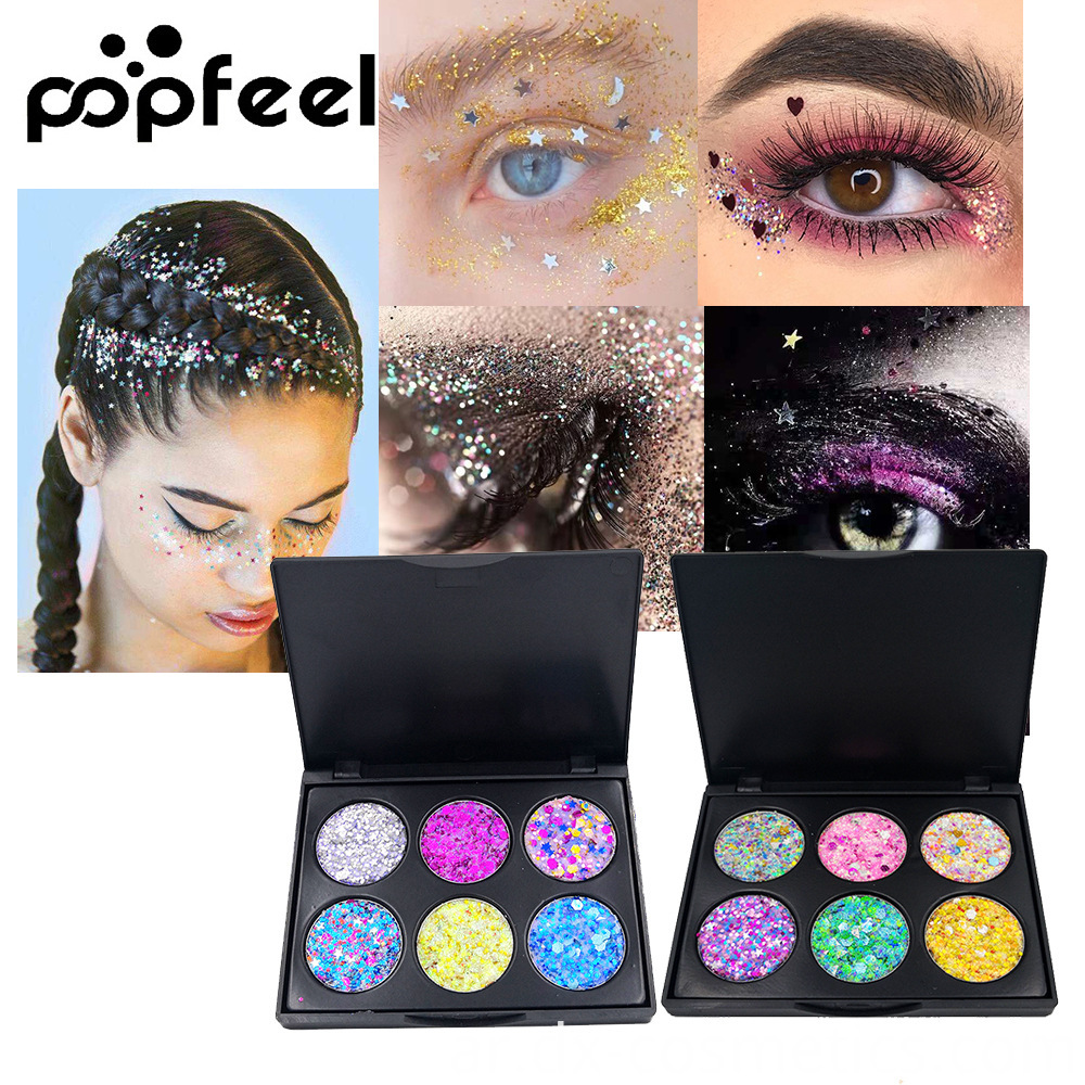6 Colors Gligger Eye Shadow 1