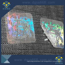 Transparenter Hologramm-Aufkleber mit Firmenlogodesign