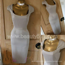 Vintage 40s 50s style satiny gold Galaxy pencil wiggle dress GP008