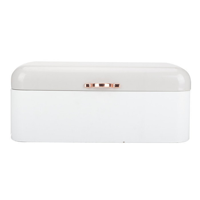 Home Vintage Retro Cream White Steel Bread Bin