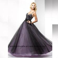 Frauen-Spitze-Sleeveless rückseitenfreies reizvolles Tulle-Abend-langes Abschlussball-Kleid