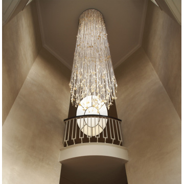 Hall decoration led fiber optic chandelier light