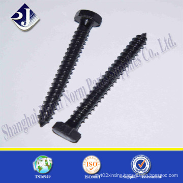 Black Zinc Hex Wood Screw