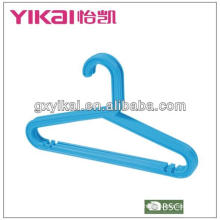 plastic baby clothes hanger with trousers bar and notches for shaps