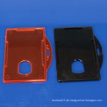 Kundenspezifischer harter Plastik Identifikation-Kartenhalter heißes fördern