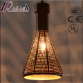 Fashion Ancient Black Metal Hollow Pendant Light with Dining Room