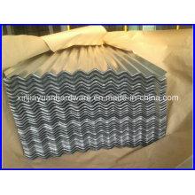 Folha de telhado ondulado galvanizado quente mergulhado / chapa ondulada do telhado
