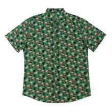 2020 camisas informales con estampado de algodón para hombres de moda