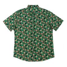 2020 camisas masculinas elegantes com estampa de algodão