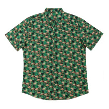 Мужские повседневные рубашки с принтом из хлопка