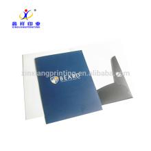Dossier adapté aux besoins du client de dossier de papier de bureau de la taille A4, dossier de papier