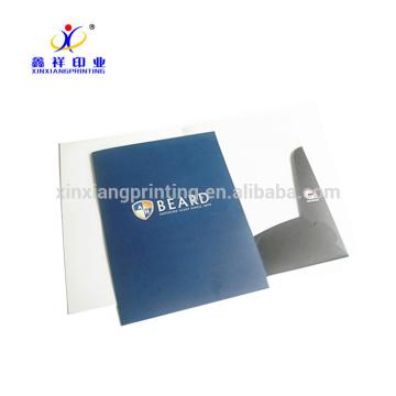 Pasta de arquivo de papel personalizada do escritório do tamanho A4, dobrador de papel