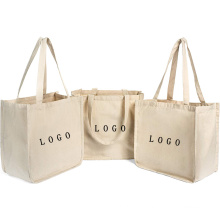 Wholesale Heavy Duty Deluxe Canvas Tote Bags Lot Cheap Customizable Reusable Grocery Shopping Medium Size Boat Craft Tote Bags