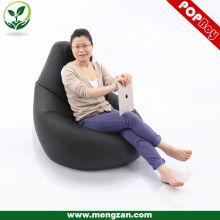 Tamaño grande silla de cuero del juego del beanbag de la PU, sofá del bolso del grano para los adultos