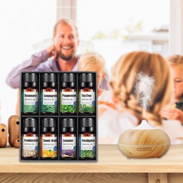 Conjunto de aceite esencial superior de etiqueta privada al por mayor 8x10ml