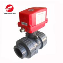 CTF-002 20NM 220 V dn32 dn40 motorizado pvc upvc válvula de bola de plástico con actuador eléctrico