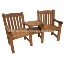 Juego de muebles de jardín / exterior Meranti - Denver Love Seat