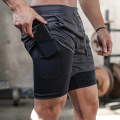Camouflage Gym Workout Shorts für Herren