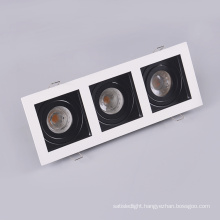 Commercial Recessed Rectangle Adjustable Grid Ceiling Downlight Fixture Anti Glare Grille Led Spot Light