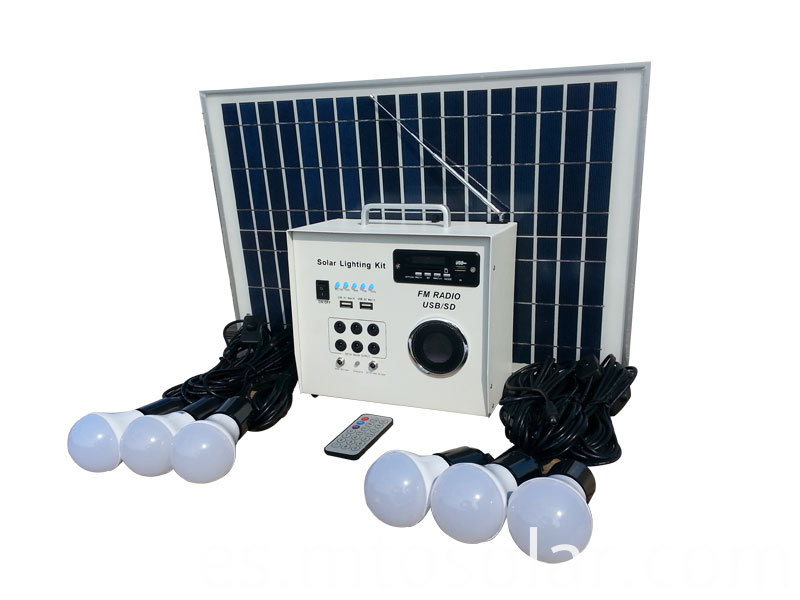 30w Solar Lighting System with radio bluetooth