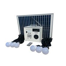 12V 30w solar luces led en concreto con la radio