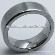 black simple tungsten ring with letter engraved for men