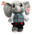 Custom high quality plush elephant baby toy with clothes & cute elephant soft toys