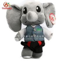 Personalizado de alta qualidade de pelúcia brinquedo do bebê elefante com roupas e fofo elefante brinquedos macios