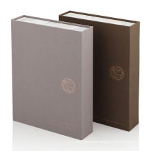 Black Custom Rigid Cardboard Magnet Closure Jewelry Packaging Book Shaped Magnetic Flap Gift Box