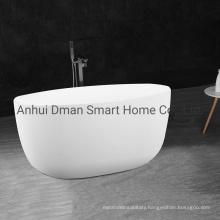 High Quality Rectangular Transparent White Acrylic Small Round Freestanding Bathtub