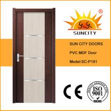 Puerta del inodoro de PVC interior de diseños modernos (SC-P191)