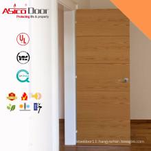 Solid Wooden Fire Rated Veneer Wood Door Design With BM TRADA