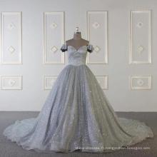 Baiyi Custom made robe de soirée de luxe musulman gris 2018 WT508