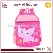Bolsas de escuela rosadas de la muchacha de la mochila de la escuela del gato para el niño