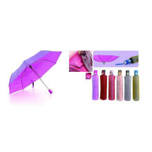Color Changing Cloth Foldable Duomatic Umbrellas (YS-3FD22083511R)
