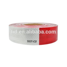 TID Reflective Tape Roll, DOT-C2, 150' X 2, Red/White, Trailer Reflector, Safety Warning, Visibility Film, Truck Adhesive