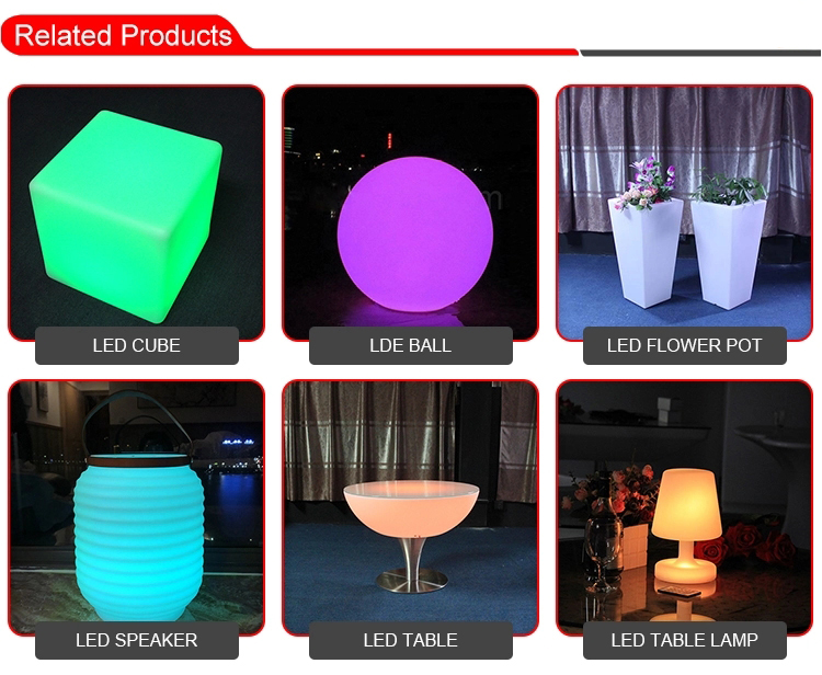 Modern Design Plastic light up Led Tables
