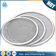 Trade assurance stainless steel 13 16 inch pizza screen/mesh bakeware